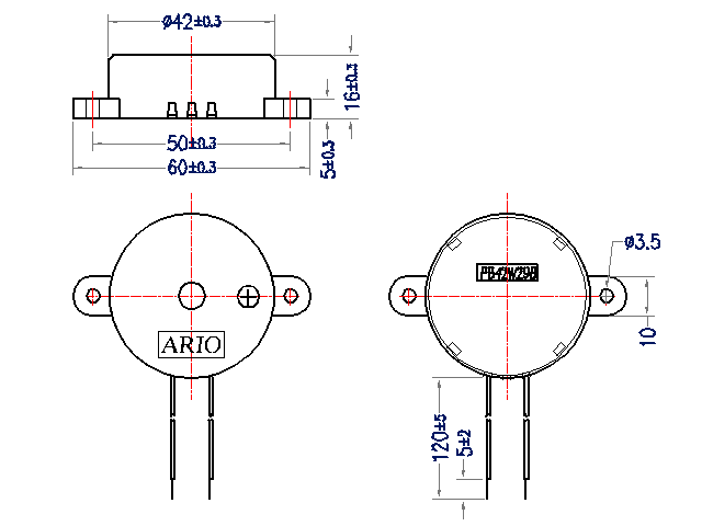 piezo buzzer with driver circuit in